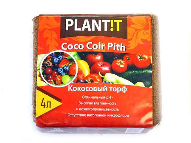 Кокосовый торф (брикет) 4л, универсальный