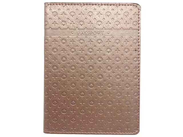 """Обложка для паспорта Intelligent """"PASSPORT"""" к/зам, золотой"""