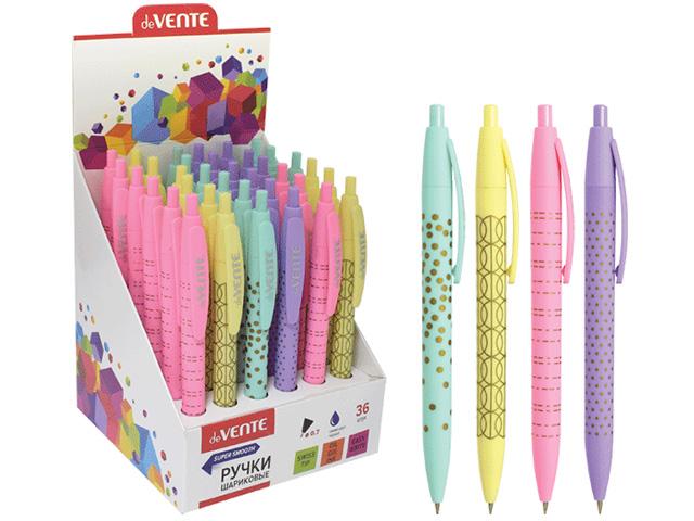 """Ручка шариковая автоматическая deVENTE """"Pastel"""" 0,7мм, цветной корпус, синяя"""