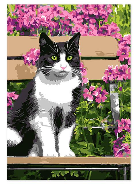 "Картина по номерам LORI ""Котик"" 20*28,5см"