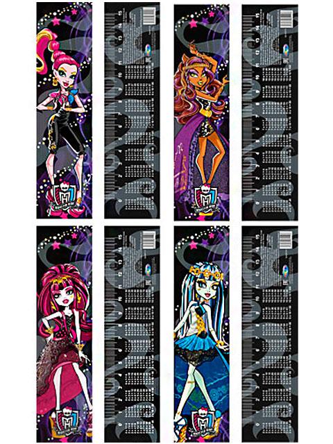 """Линейка детская 15 см """"Centrum. Monster High"""" с таблицей умножения"""