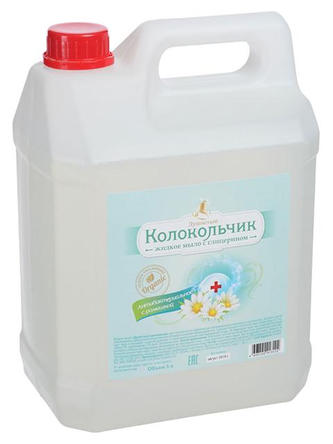 """Мыло жидкое """"Душистый Колокольчик"""" антибактериальное с ромашкой ПЭТ 5л."""