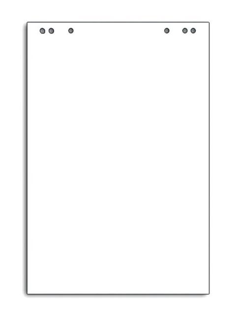 Блокнот для флипчарта 20 листов OfficeSpace, белый, 67х98 см