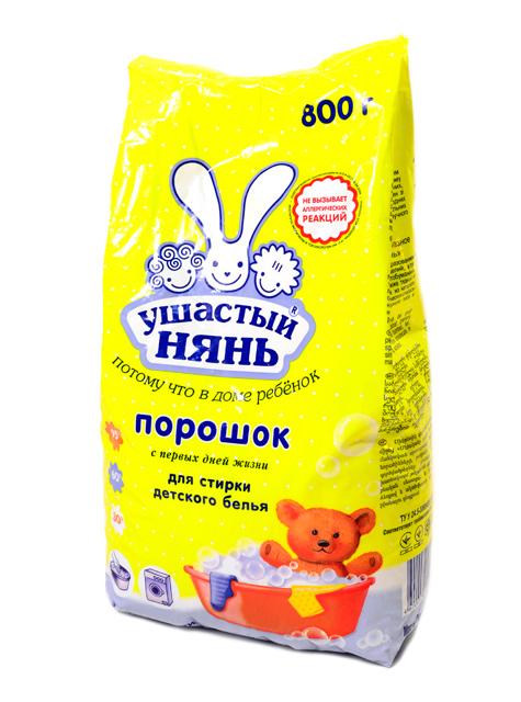 """УШАСТЫЙ НЯНЬ СМС """"Детский для всех типов стирки"""", 800 г"""