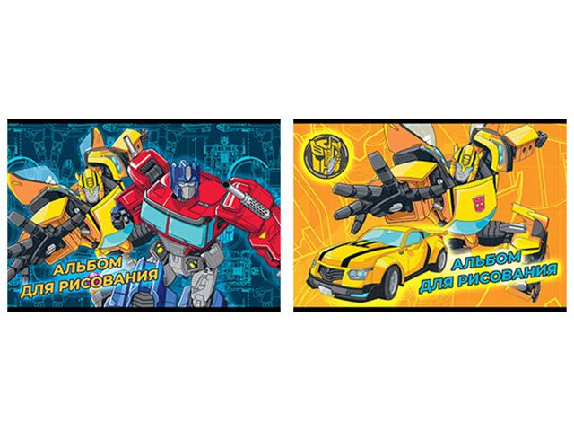 """Альбом для рисования А4 16 листов Академия Холдинг """"Transformers"""" на склейке"""
