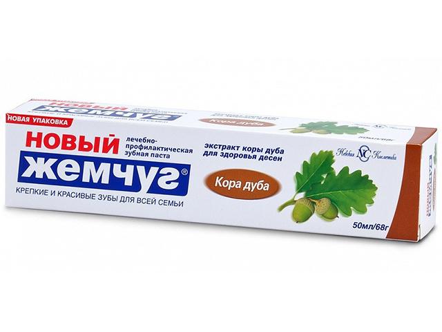 "Зубная паста Новый Жемчуг ""Кора дуба"", 100 мл"
