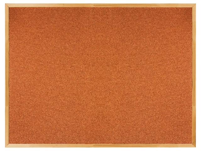 Доска пробковая BRAUBERG для объявлений, 90х120 см, деревянная рамка