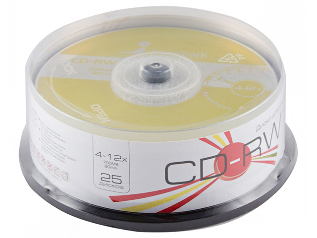 Диск CD-RW Smart Track 700Mb 4-12x Cake Box (25)