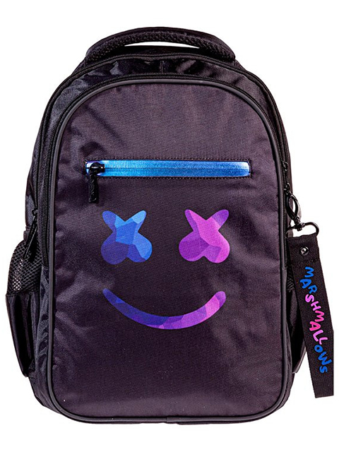 "Рюкзак подросковый Хатбер ""Basic. Style-SMILE"" 41х30х15 см, 2 отделения, 3 кармана"