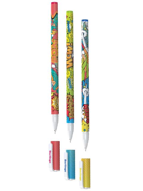 """Ручка шариковая Berlingo """"Fanline. Hype"""" 0,7 мм, синяя"""