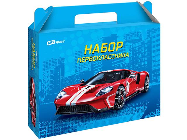 """Коробка подарочная ArTSpase """"Набор первоклассника. Супер Кар"""" без наполнения"""