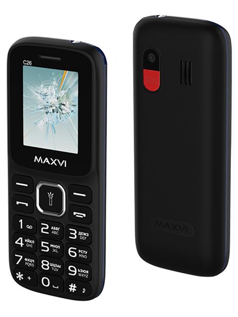 Мобильный телефон Maxvi С26 Black-Blue