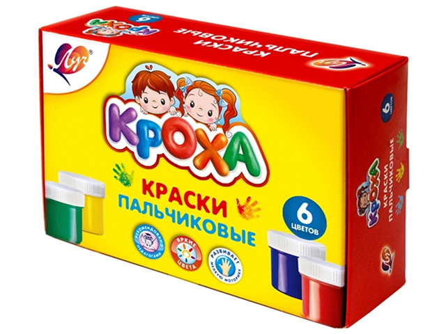 "Краски пальчиковые Луч ""Кроха"" 6 цветов х 40 мл"