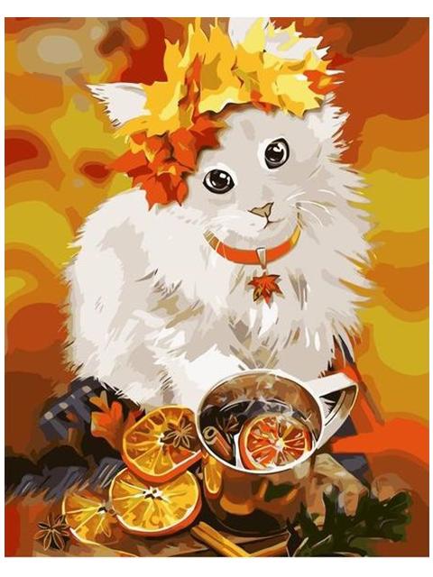 """Картина по номерам Colibri """"Осенний кот"""" 40*50см"""