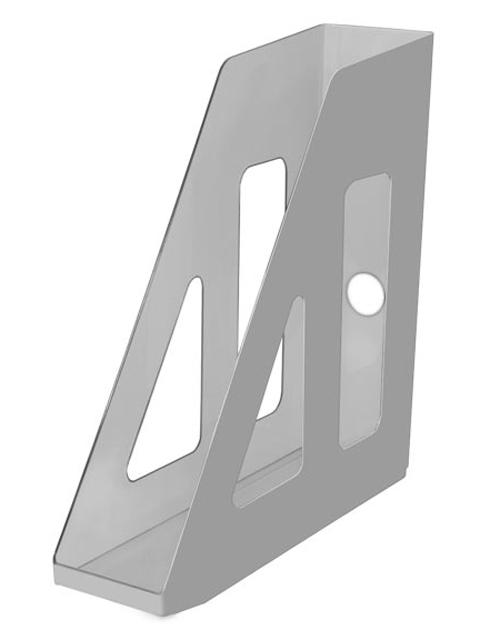 Лоток для бумаг СТАММ Актив, вертикальный, непрозрачный, серый