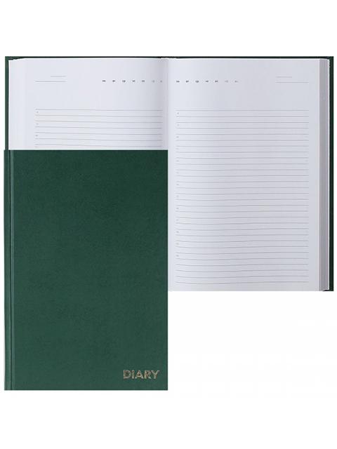 """Ежедневник недатированный А5 160 листов Attomex """"Diary"""" обл. бумвинил, зеленый"""