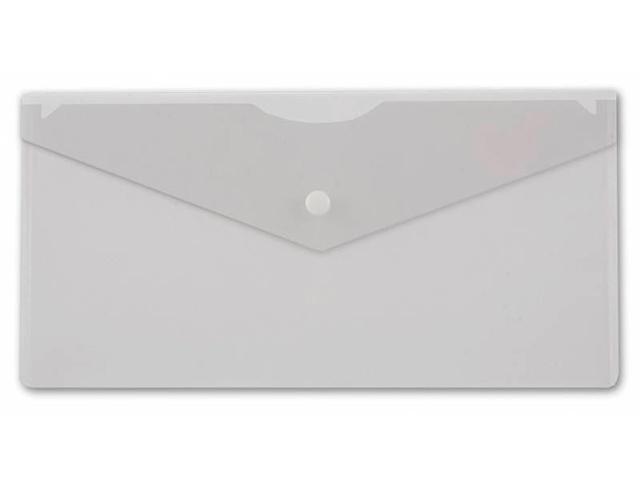 """Папка-конверт на кнопке А6+ """"Бюрократ"""" 0,18 мм, прозрачный, 250х130 мм (без штрих-кода)"""