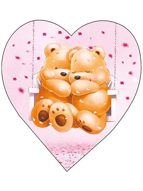 """Открытка-валентинка """"Я [люблю] тебя"""", фигурная вырубка"""