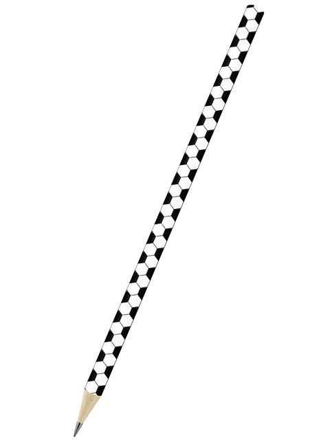 """Карандаш чернографитный ВКФ """"Hot Print. Футбольный мяч"""" ТМ, круглый, деревянный, заточенный"""