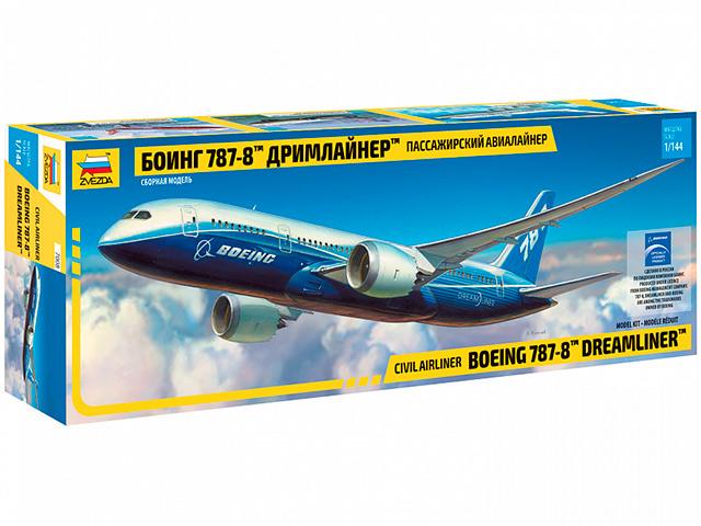 """Сборная модель """"Пассажирский авиалайнер """"Дримлайнер"""" Боинг 787-8"""" М1:144"""