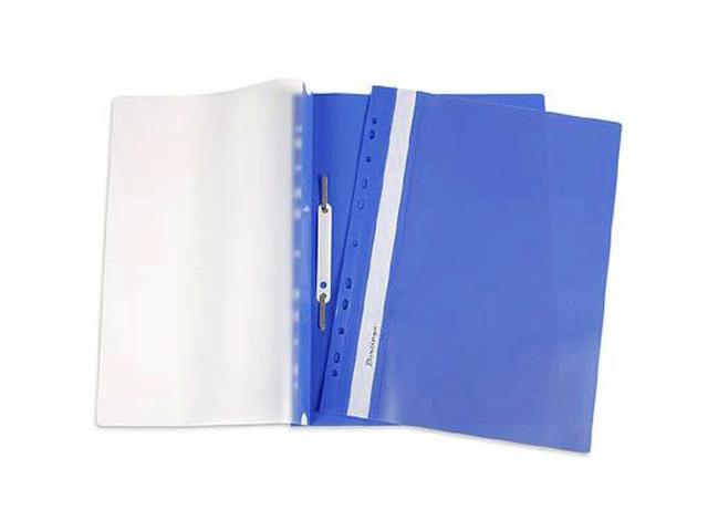 Папка А4 со скоросшивателем Berlingo с прозрачным верхом, синяя