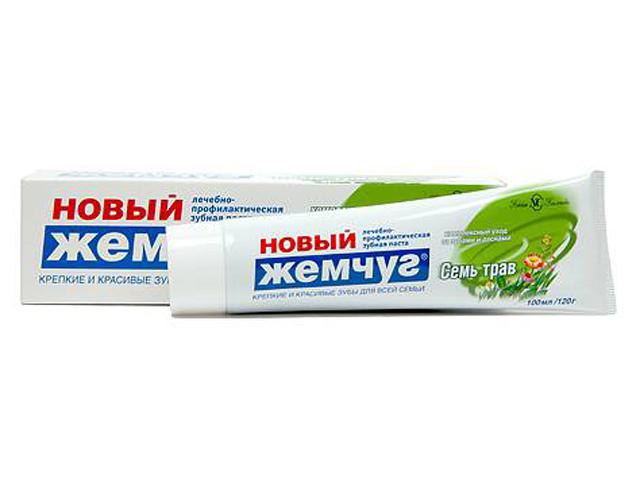 "Зубная паста Новый Жемчуг ""Семь трав"", 100 мл"