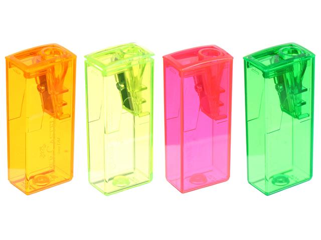 Точилка Faber-Castell 1 отверстие, с контейнером, в ассортименте