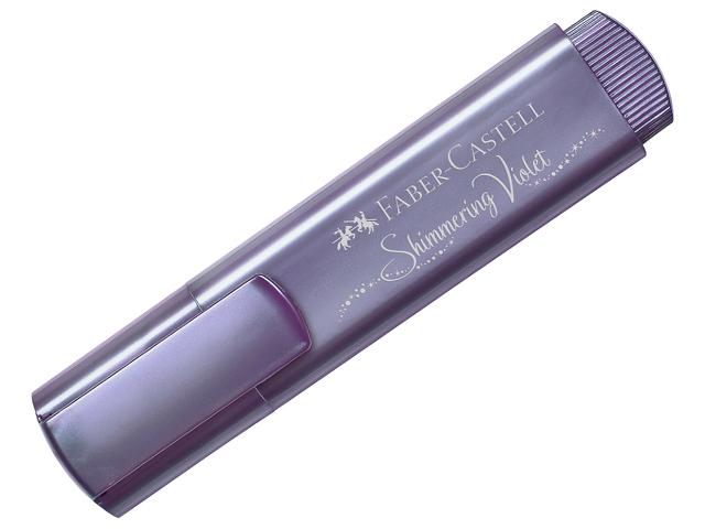 """Текстовыделитель Faber-Castell """"TL 46"""" 1-5 мм, скошенный, металлик фиолетовый"""