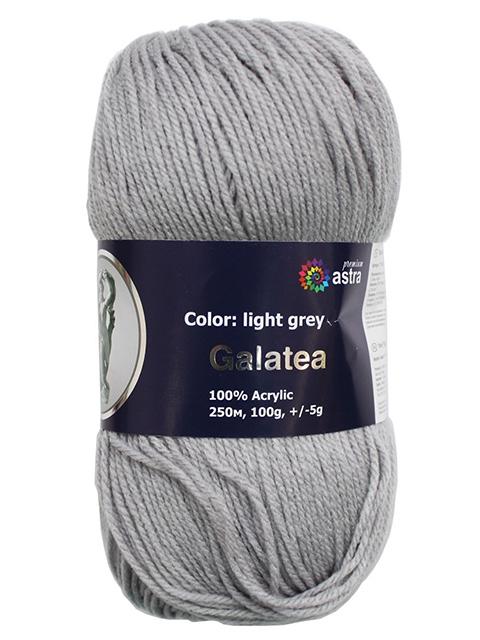 """Пряжа Astra """"Галатея"""" светло-серый 100гр. 250м. (100% акрил)"""
