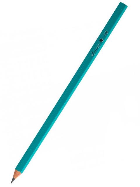 """Карандаш чернографитный """"Attomex"""" НВ, корпус шестигранный зеленый, без ластика"""