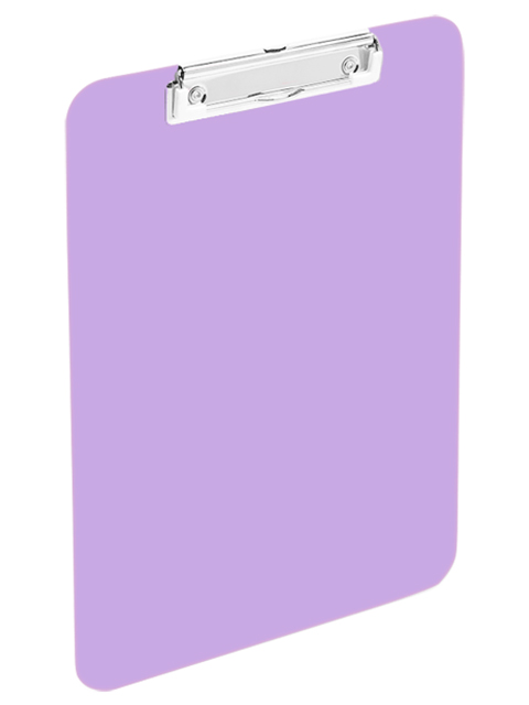 Планшет с зажимом А4 deVENTE, непрозрачный сиреневый (клипборд), пластиковый, прозрачный