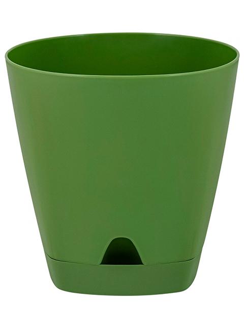 """Горшок для цветов """"Amsterdam"""" D 140мм, 1,35л, с прикорневым поливом, Оливковый"""