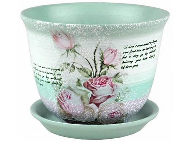 """Горшок для цветов """"Гранд Декупаж (431)"""" 22см, керамика"""