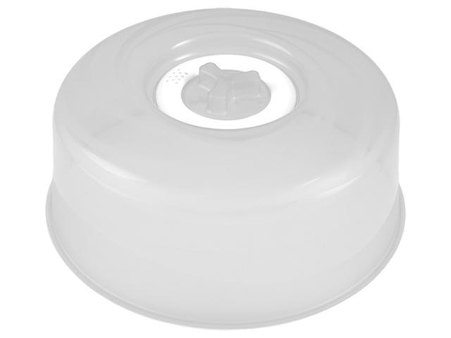 """Крышка для СВЧ """"Bono"""" с паровыпускным клапаном D250 натуральный/сливочный крем"""
