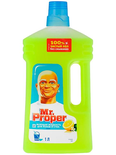 MR.PROPER СЧС Моющая жидкость для полов и стен Лимон 1л