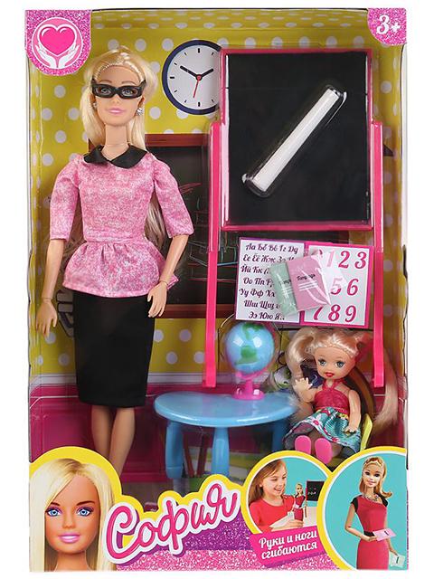 """Кукла """"София учительница"""" 29 см, ученица и аксессуары, в картонной упаковке"""
