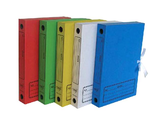 Папка архивная на завязках №2 45 мм желтая [АС-2]