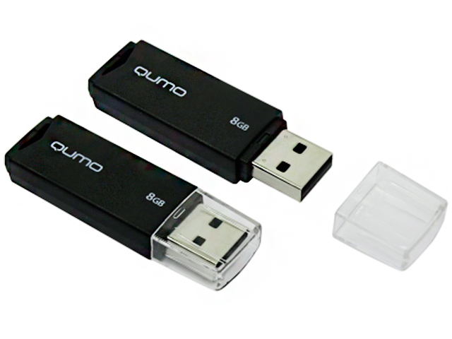 Флэш-диск QUMO 08 Gb Tropic Black