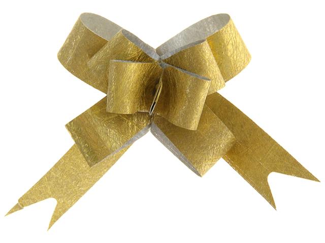 """Бант оформительский """"Бабочка №1,2"""" блестящая фактура, золотой 10шт. в упак"""