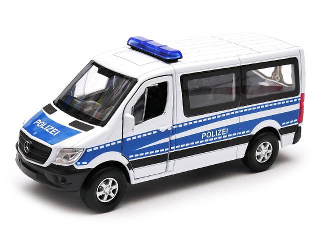 """Машинка-модель """"Mercedes-Benz Sprinter Полиция"""" металл, в упаковке"""