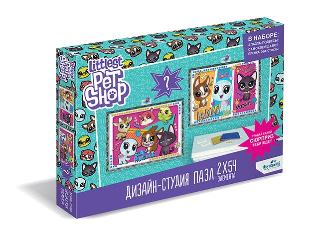 """Пазлы (набор 2 в 1) 2х54 элементов Оригами """"Littlest Pet Shop. Всегда вместе!"""""""