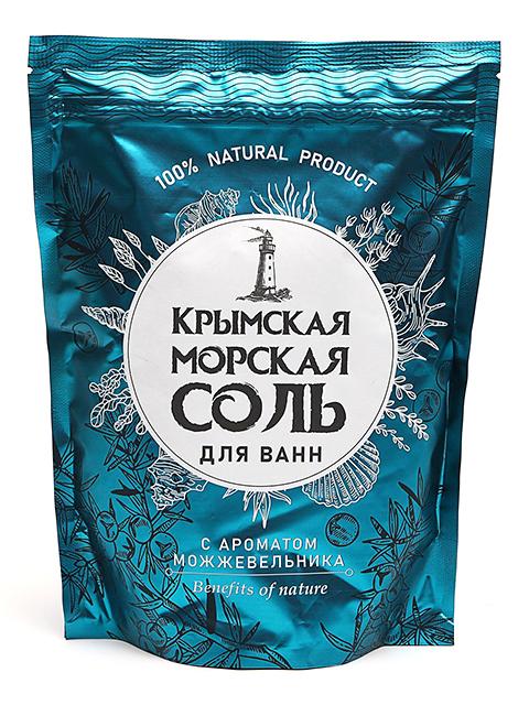 """Соль для ванн """"Крымская"""" природная с ароматом можжевельника, 1100г."""