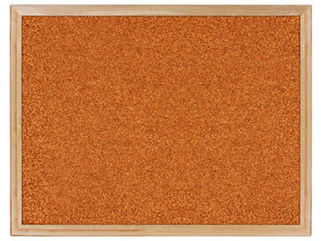 Доска пробковая BRAUBERG для объявлений, 45х60 см, деревянная рамка