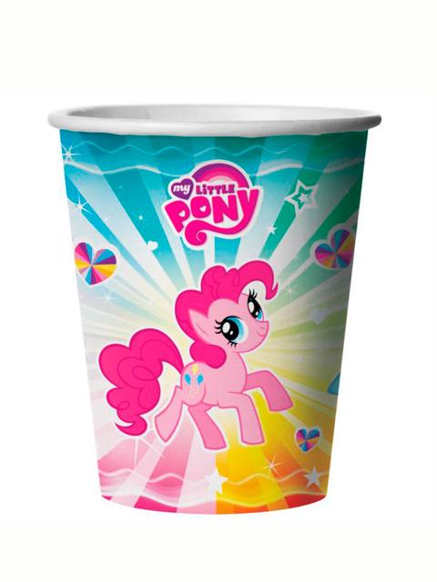 """Стакан бумажный """"Весёлый праздник. My little pony"""" 250мл. 6шт. в упак."""