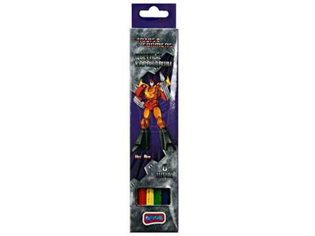 """Карандаши цветные BOOM """"Transformers"""" 6 цветов, в карт.упак."""