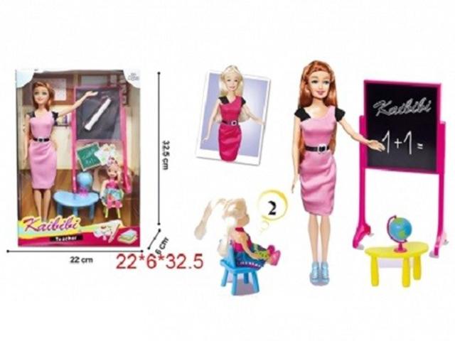 """Кукла """"Учитель"""" (кукла-малышка и доска в комплекте), 28см, коробка"""