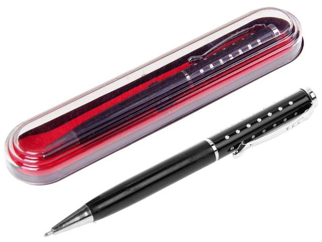 """Ручка шариковая с поворотным механизмом """"Calligrata"""" черная, в футляре"""