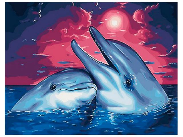 """Картина по номерам PaintBoy """"Песни дельфинов"""" 40*50см"""