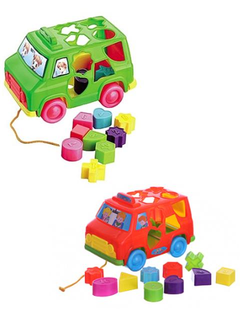 """Сортер-каталка """"Логическая игрушка. Машинка"""", в сетке"""