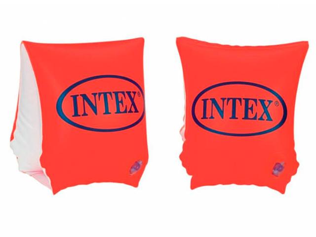 """Нарукавники надувные для плавания INTEX """"DELUX"""" 23х15см, 3-6 лет"""